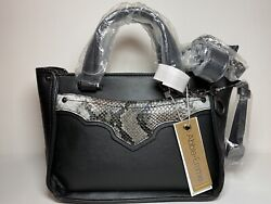 Abbie and Emmie Crossbody Over Shoulder Black Leather Handbag Top Handle Purse $19.99