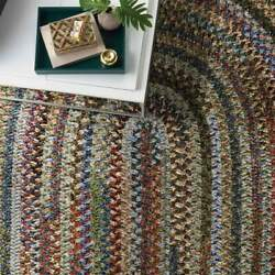 Capel Rugs Habitat Soft Chenille Polyester Braided Oval Rug Multi Colored 930