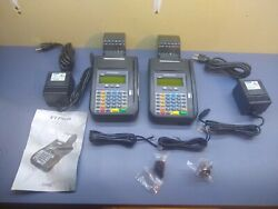 Lot Of 2 Hypercom T Series T7plus Credit Card Machine Terminals And Power Supplies