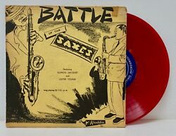 Illinois Jacquet / Lester Young Battle Of The Saxes Aladdin 701 Red Vinyl 10