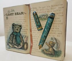 Vintage 1995 Silver Crane Company The Little Lost Bear Collectible Tin