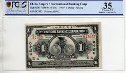 International Banking Corp.beijing One Dollar 1919 In Pcgs 35