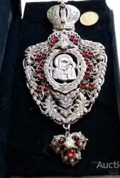 Huge Antique Imperial Russian Sterling Silver 84 Christian Church Cross Order