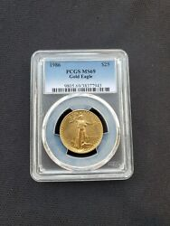 1986 25 1/2 Oz American Gold Eagle Coin Pcgs Ms 69 First Year Of Production
