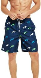 Swim Trunks For Men Quick Dry Swimwear Suit Board Shorts With Mesh Lining Short