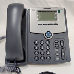 Lot Of 2 Cisco Spa512g 1 Line Voip Phone With Display Poe. Free Shipping