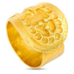 Ilias Lalaounis 18k Yellow Gold Buckle Ring