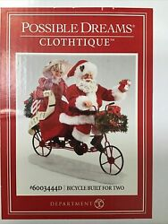 Dept 56 Possible Dreams Bicycle Built For Two Santa And Mrs Claus 6003444d