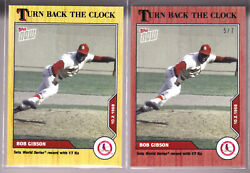 Bob Gibson Cardinals 2020 Topps Now Turn Back The Clock 186 Cherry 5/7 And Base
