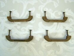 Vintage Metal Chest Of Drawers Handles 4 1/2 1950s Antique
