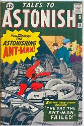 Tales To Astonish 40 Marvel 1963 -- Early Ant Man Lee Kirby Ditko Beauty