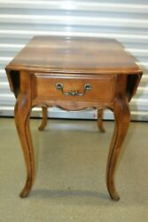 Ethan Allen Country French Drop Leaf End Table Birch 26-8302 236 Fruitwood 1994