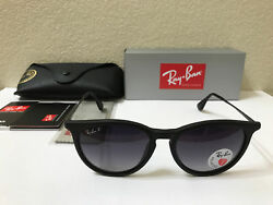 RAY BAN Sunglasses Erika Polarized Matte Black Frame W Grey Gradient 54m $69.00