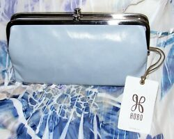 NWT HOBO LAUREN CLUTCH WALLET Whisper Blue Double Frame Magnet Closure $75.00