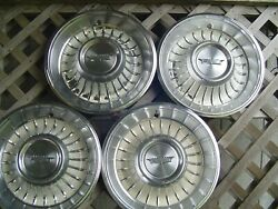 1962 62 Cadillac Fleetwood Deville Hubcaps Wheel Covers Antique Vintage Classic
