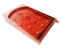 Shoptreed Bagatelle Traditional Wooden Crafted Tabletop Pinball Game Large