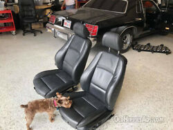 Black Leather Power Seats For 2-door For Your Muscle/classic Car