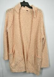 Free People Womens Waterfront Cardigan Mock Neck Long Sleeves Open Front Knit Xs