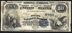 Il 1882 10 Date Back ♚♚ Jacksonville Illinois ♚♚ The Ayers Nb