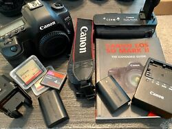 Canon Eos 5d Mark Ii 21.1 Mp Digital Slr Camera Low Shutter Count + Extras