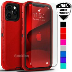 For Apple iPhone 12 Mini 11 Pro Max Shockproof Rugged Case Screen Protector