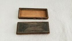 Vintage Unbranded Sharpening Stone In Beautiful Wooden Box Whetstone