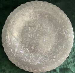 Vintage Arabic Egyptian Cairo Silver Plate 0.900. Hand Engraving.