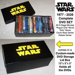 Complete Star Wars Saga On Dvd, 12 Movies + Clone And Rebels Animated Tv Series
