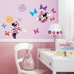 MINNIE MOUSE BOWTIQUE Wall Decals 33 New Girls Bedroom Stickers Peel and Stick
