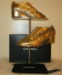Lace Up Women's Shoes, New, Gold, Size 37