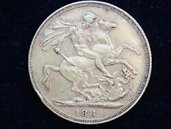 1889 Gold Coin Sovereign - Queen Victoria Jubilee Head - London Minted 300b