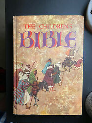 The Childrens Bible 1965 Golden Press Illustrated Old New Testament Hardcover