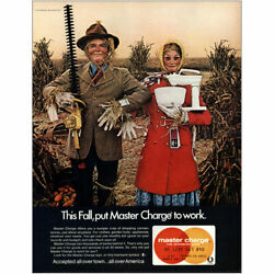 1970 Master Charge This Fall Scarecrow Vintage Print Ad