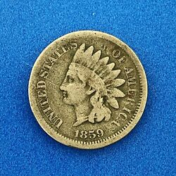 1859 Indian Head One Cent Penny Type 1 Copper Nickel Better Philadelphia Coin