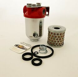Hot Rod Fuel Filter Assembly 3/8 Npt With Extra Cartridge Paper Filter/seal Kit.