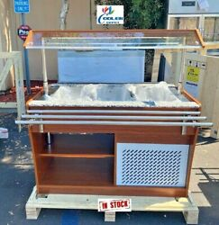 New 48 Cold Table Refrigerator Buffet Mobile Trolley Salad Bar Fruit Display