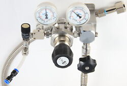 Stainless Steel Parker Ir6000 Dual Stage Regulator, Wall Mount Custom Co2 System