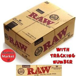 Raw Classic King Size Slim+filter Tips Full Box 24 Booklets Smoke Rolling Papers