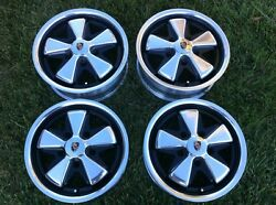 Porsche Detailed Fuchs Wheels With Hearts All 5.5 X 15 Polished Alloys