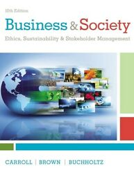 New 3 Days Us Business And Society 10e Archie Carroll Buchholtz 10th H/c Edition