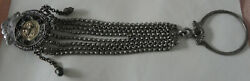 Antique Unique Silver Chain Jewelry- 8 Row - For A Pocket Watch