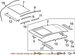 Genuine Oem Sunroof Assembly For Toyota 6323306120