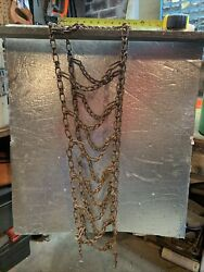 Vintage Rusty Anti Skid Tire Chains -about 72 Long X 11 Wide