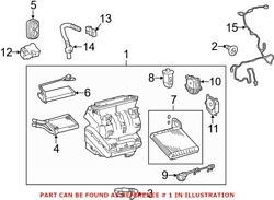 Genuine Oem A/c Evaporator Core And Case Assembly For Toyota 8705047150
