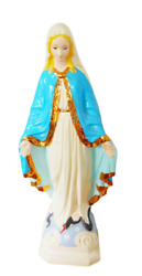 Large Vintage Virgin Mary Lady Of Grace Chalkware Religious Statue 24 Inch