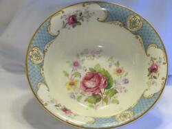 Myott Son And Co Staffordshire Rose Blue Round Vegetable Bowl
