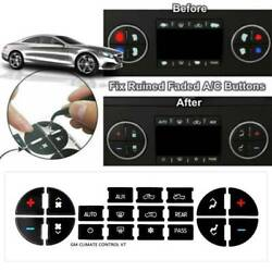 Black Vinyl Radio Button Fix Panel Decal Sticker For 2007-2015 Chevy Gm Buick