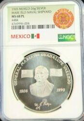 1965 Mexico Silver Medal Mare Island Naval Shipyard 484 Ngc Ms 68 Pl Top Pop 1