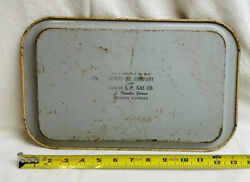 Vintage Phillips 66 Downs Standard Oil Co. Kansas Metal Serving Tray Gas Sign