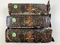 3 Pack Pine Mountain Java-log Coffee Firelog - 3 Logs Perfect For Camping New